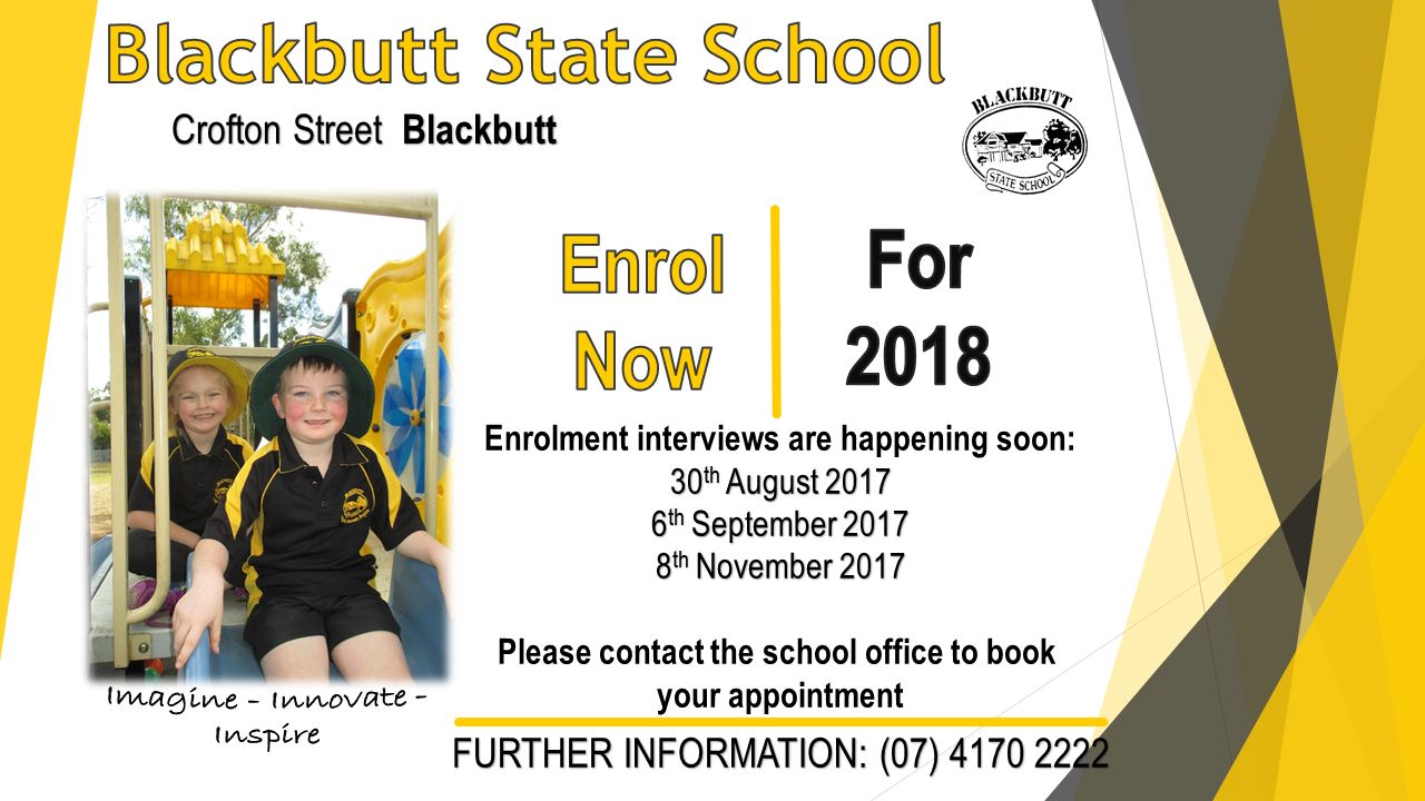Enrol now for Prep 2018